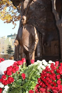 Opening Karimov Monument in Moscow